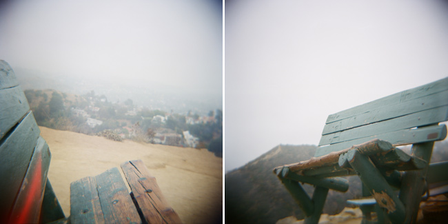 Runyon Canyon Bench Fine Art Photograph Hollywood, California