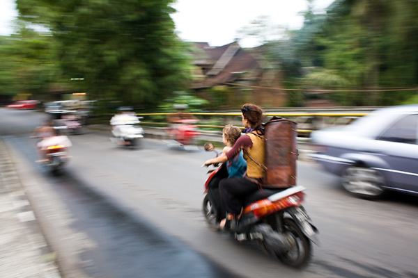 Bali Documentary Photograph, motorbikes in Ubud