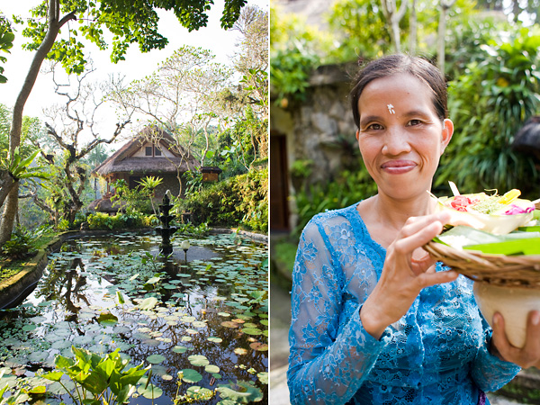 Hotel Tjampuhan; Ubud, Bali; Bali Travel Photography; Balinese Prayer Offering