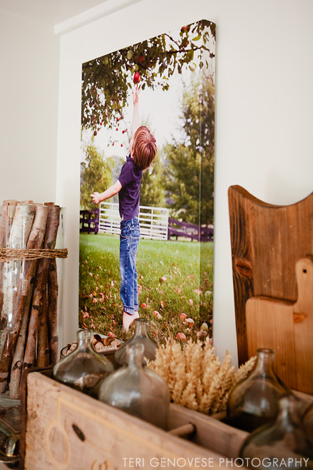 Gallery Wrapped Canvas Display Idea
