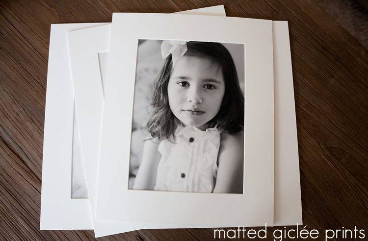 Archival Gallery Matted Fine Art Prints