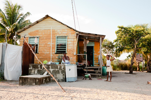 Photograph taken in Hopkins, Belize