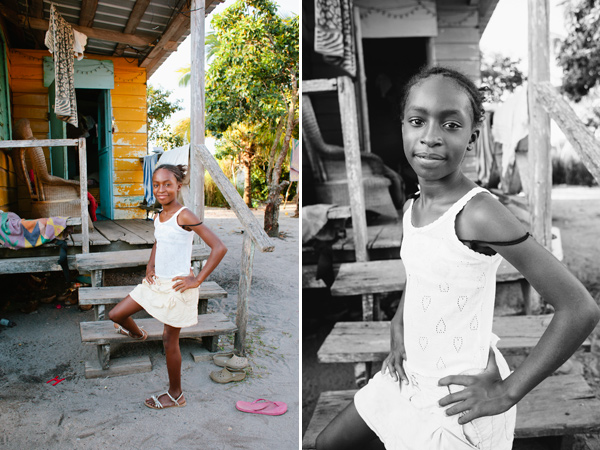 Portraits taken in Hopkins, Belize