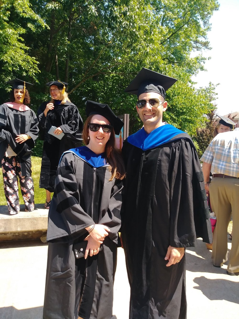 Allie Mills and Mike Emanuele, UNC Graduation, May 2018