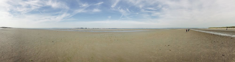 A panoramic view of West Wittering Beach