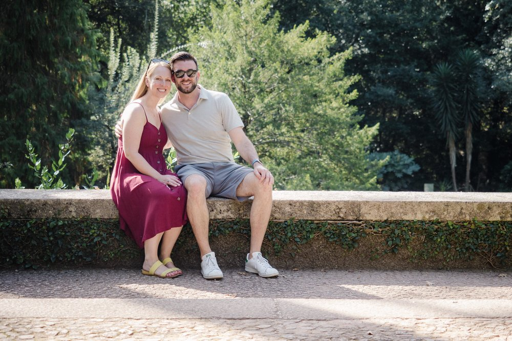 Lauren and I posing in the gardens of Serralves.