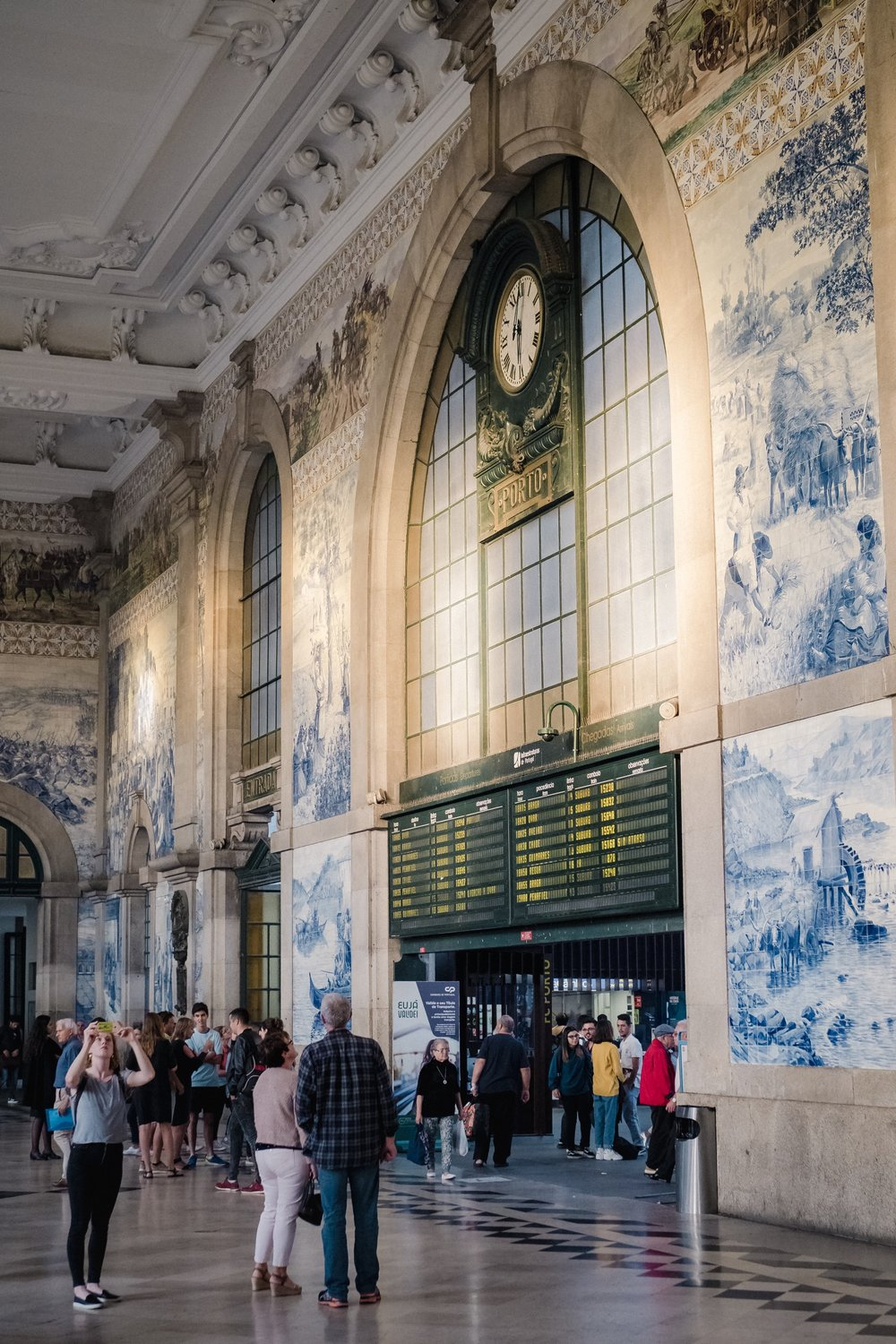 Porto's train station is a beautiful example of the tile that can be found throughout Porto (and Lisbon).