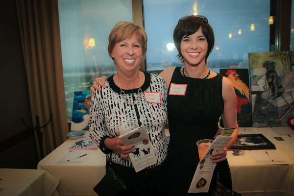 My mother, the talented Nancy Floyd, and I at the River Club Art Unleashed Auction.