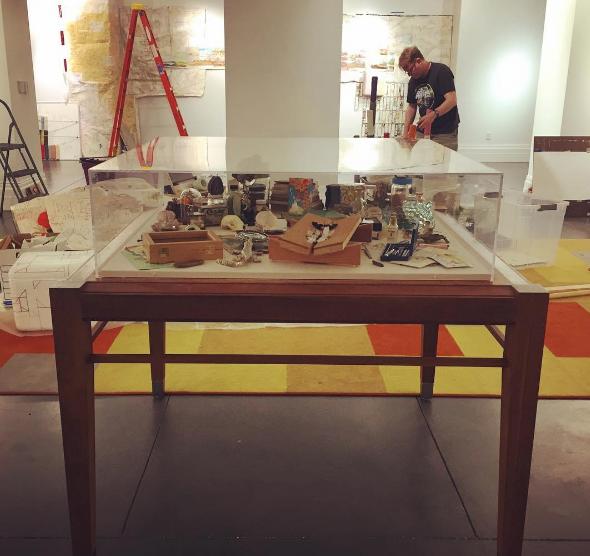 Installing alongside artist Mark Creegan in the Jax Makerspace in May 2017.