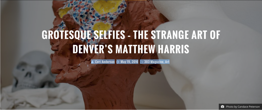 """Denver artist Matthew Harris is on a quest to uncover some of those flaws with meticulously sculpted and grotesque statue heads which seduce the eye from a distance and repulse it from up close. In doing so, he hopes that viewers of his work may rethink how they deal with the reality of imperfection"" written by Cori Anderson."