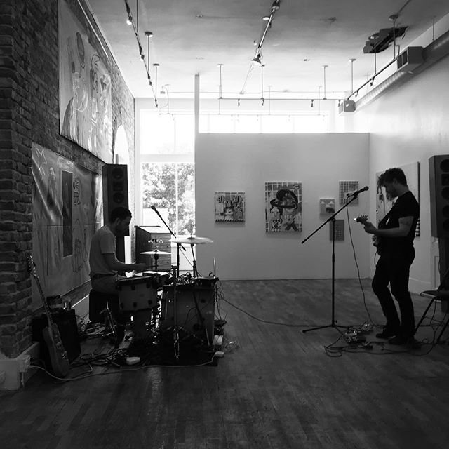 We've got Muscle Brain (@jordanknecht & @jamesdavidfitzpatrick) playing in the gallery for 13 hours today. They'll be joined by a number of other Denver musicians including @patrickdethlefs @pauldehavenmusic @inneroceans & many, many more. It's hot outside, but it's cool in here. Stop by anytime throughout the day. #marathonmusic #performanceart #musclebrain #denverart #denvermusic #denvermusicians