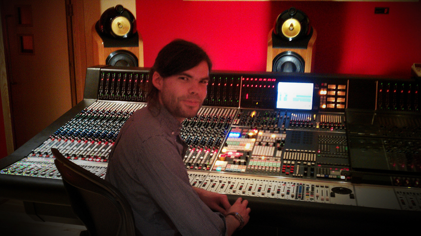 Matthew Cracknell at Abbey Road Scoring Session