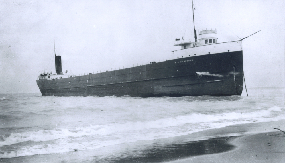 SS HB Hawgood aground near Port Huron.