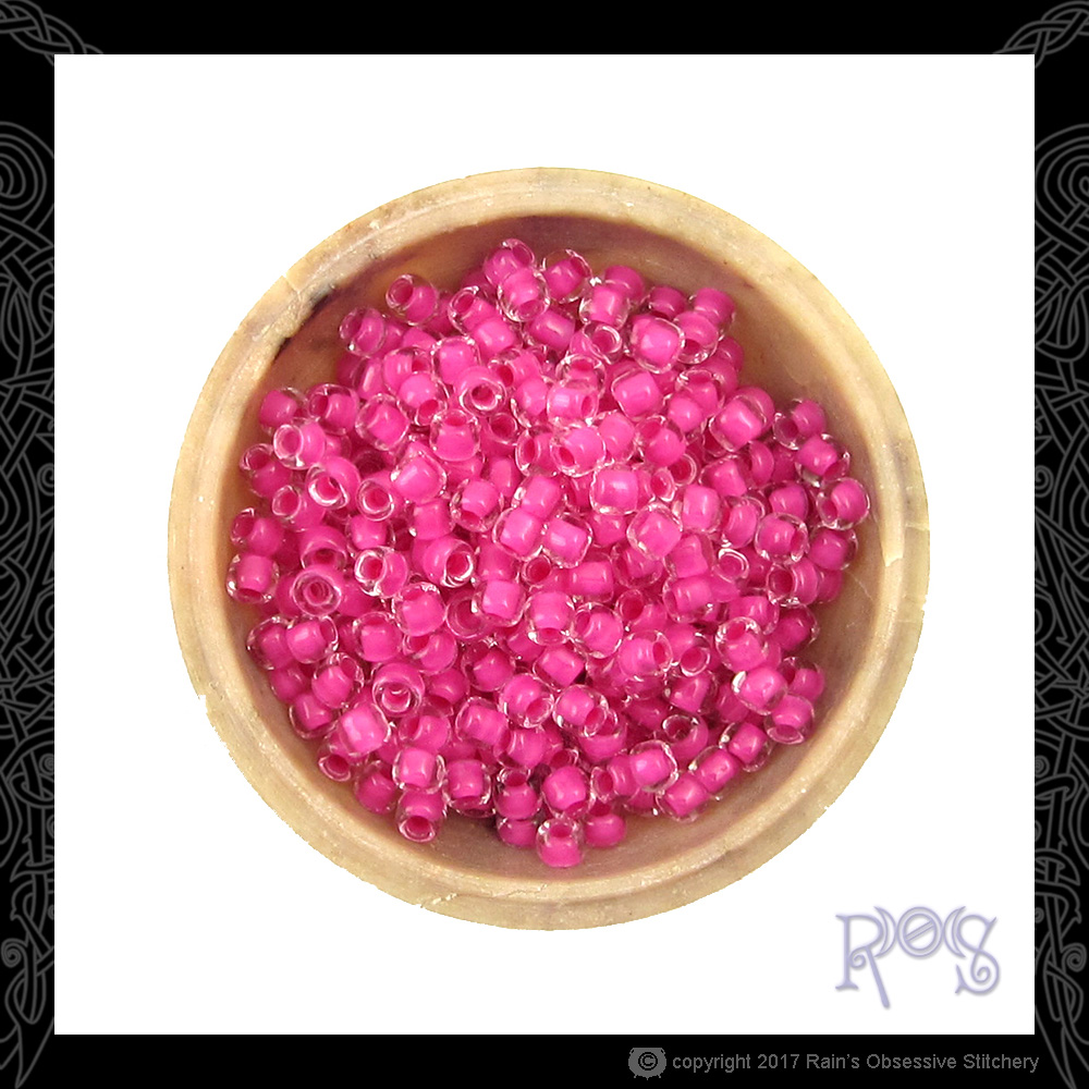 Inside Color Hot Pink 6/0 Seed Beads — Rain\'s Obsessive Stitchery