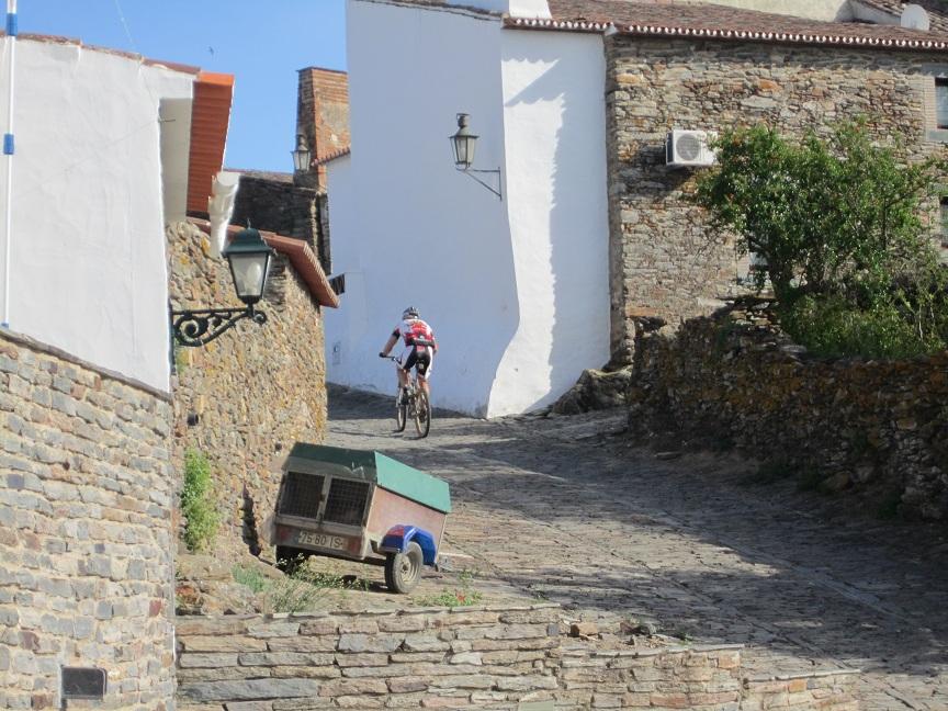 Adam climbing final hill