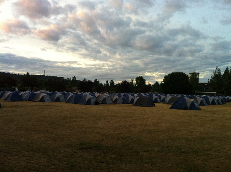 Tent City at 5:30am