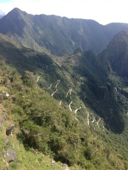 From the Machu Picchu site you can hike up to a few different peaks.  Here is the view from one of them.
