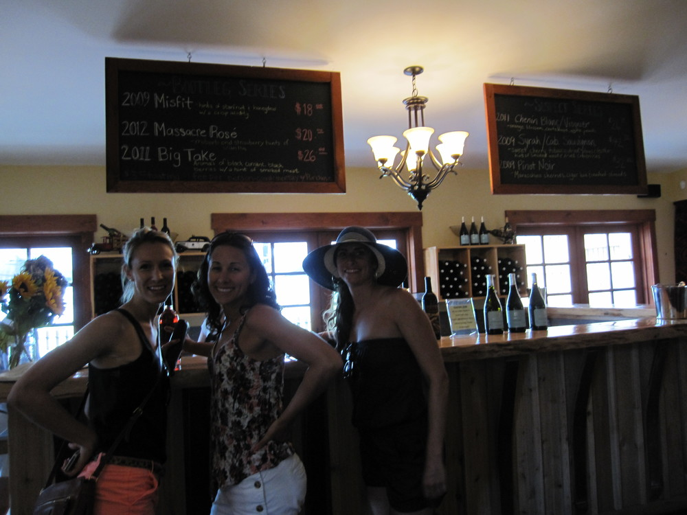 Kate, Christa, Jody getting ready to enjoy some Okanogan wine.