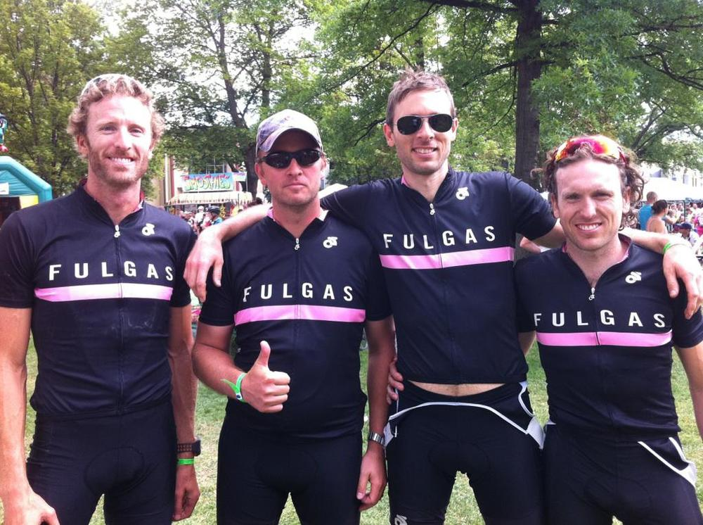 Scott, Ben, Matt, Christian: looking good after the race