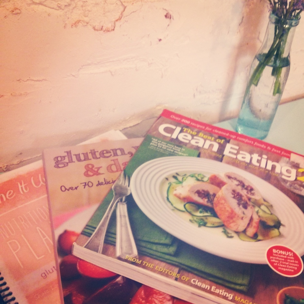 Some of the recipe books I use to plan my meals