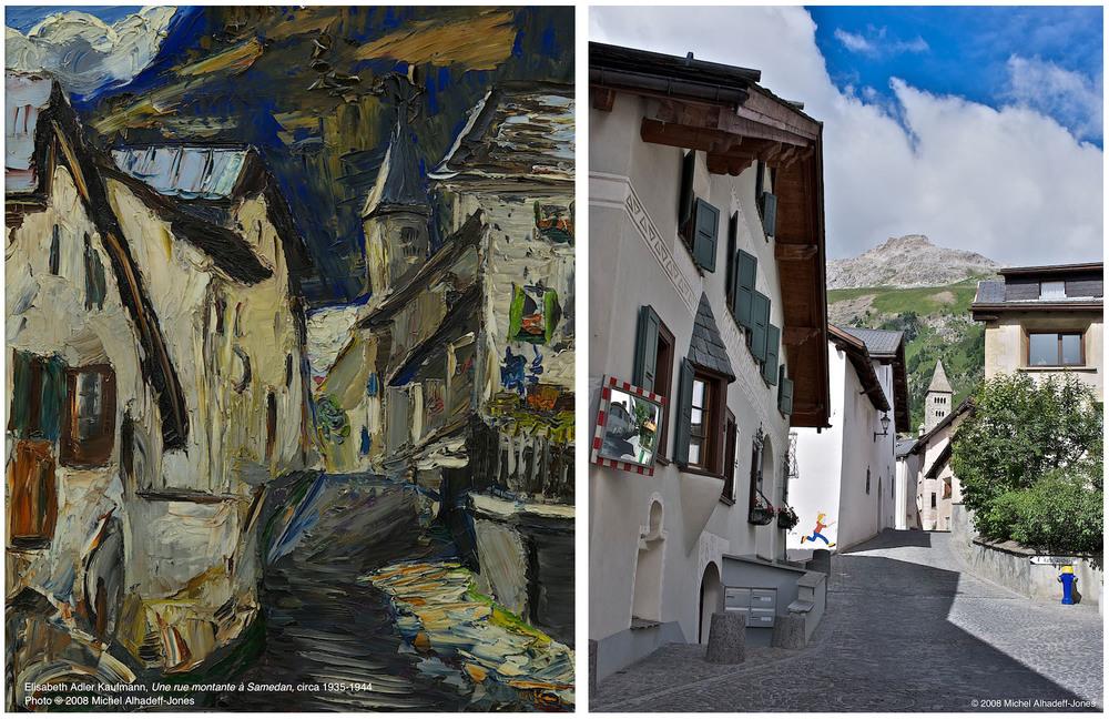 Rue montante, Samedan, circa 1935-44 / 2008