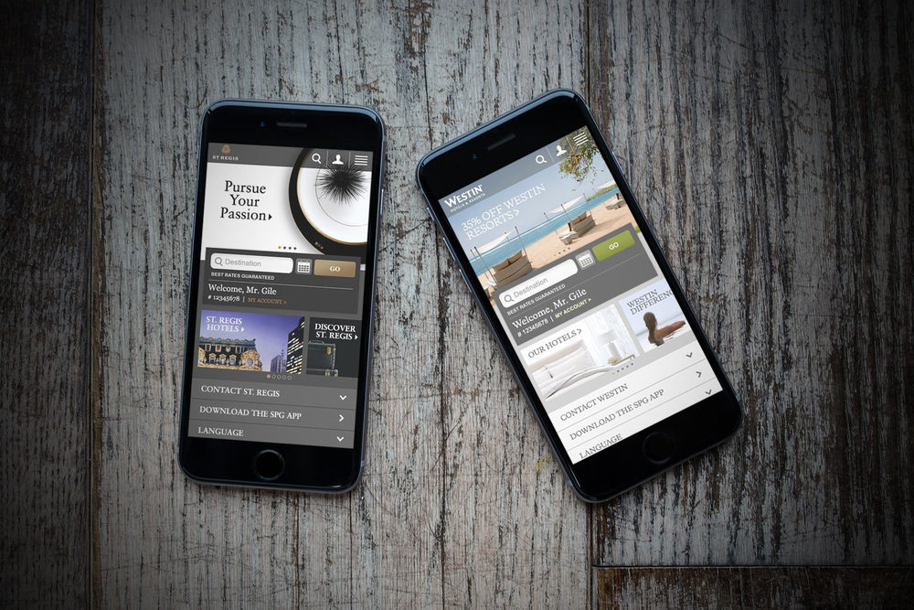 Starwood Hotels - Mobile Site