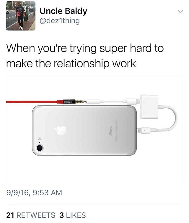 Audiophiles aren't having it 😂. #iphone7 #airpods #headphones