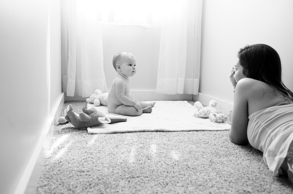 baby, portraits, indoor, lifestyle, its the everyday, atlanta, monthly, natural light, black and white