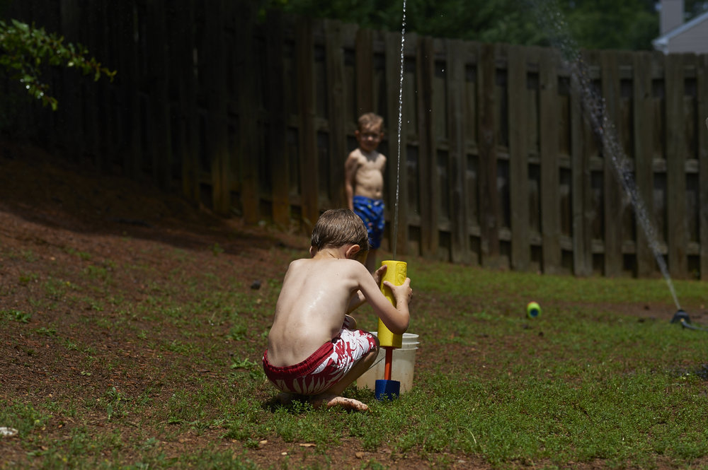 summer, outdoor play, sprinkler, georgia