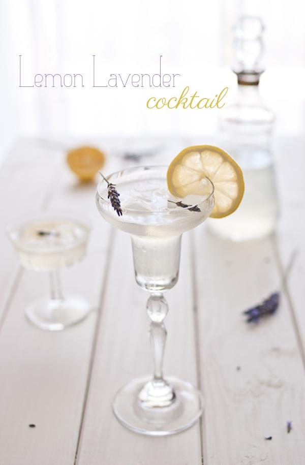 Lemon lavender cocktail