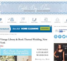 CONFETTI DAYDREAM Vintage Library Wedding