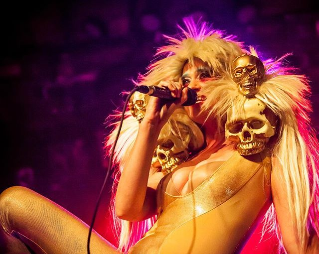 The one and only Peaches, performing at #mezzaninesf, back in 2013. Probably the most fun I've had shooting a performance.  #concertphotography  #peaches  #lowlightphotography  #highiso  #5dmk2  #musicphotography