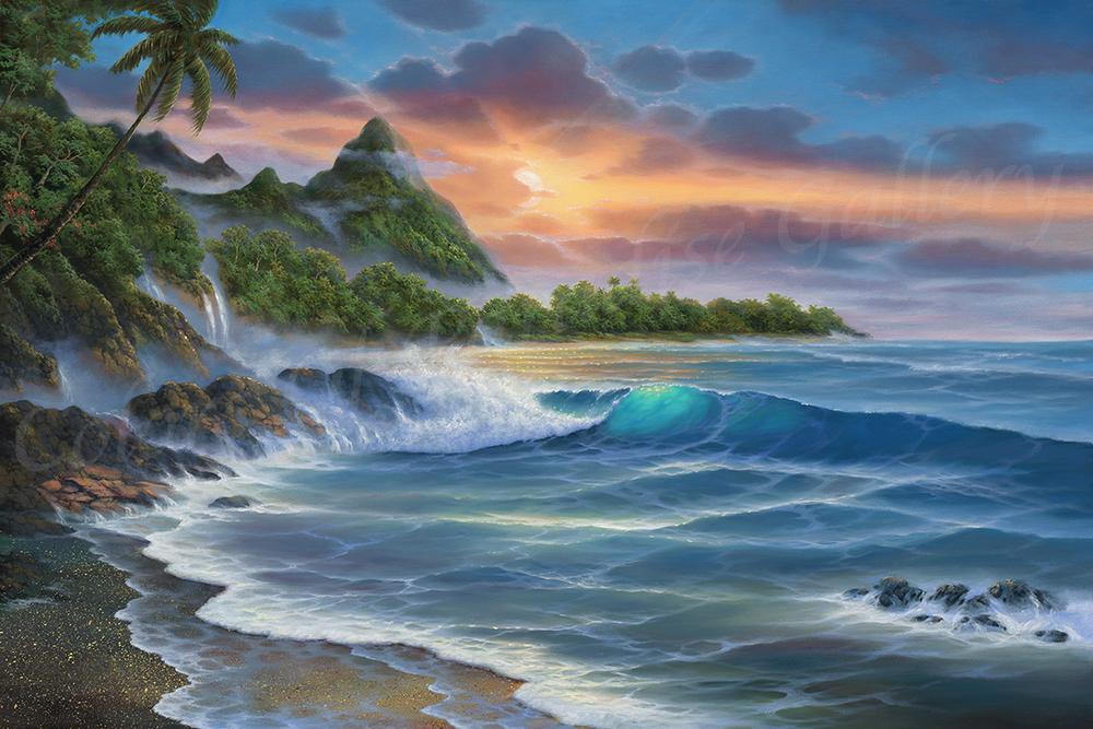 """""""Bali Hai Sunset"""" 24x36"""