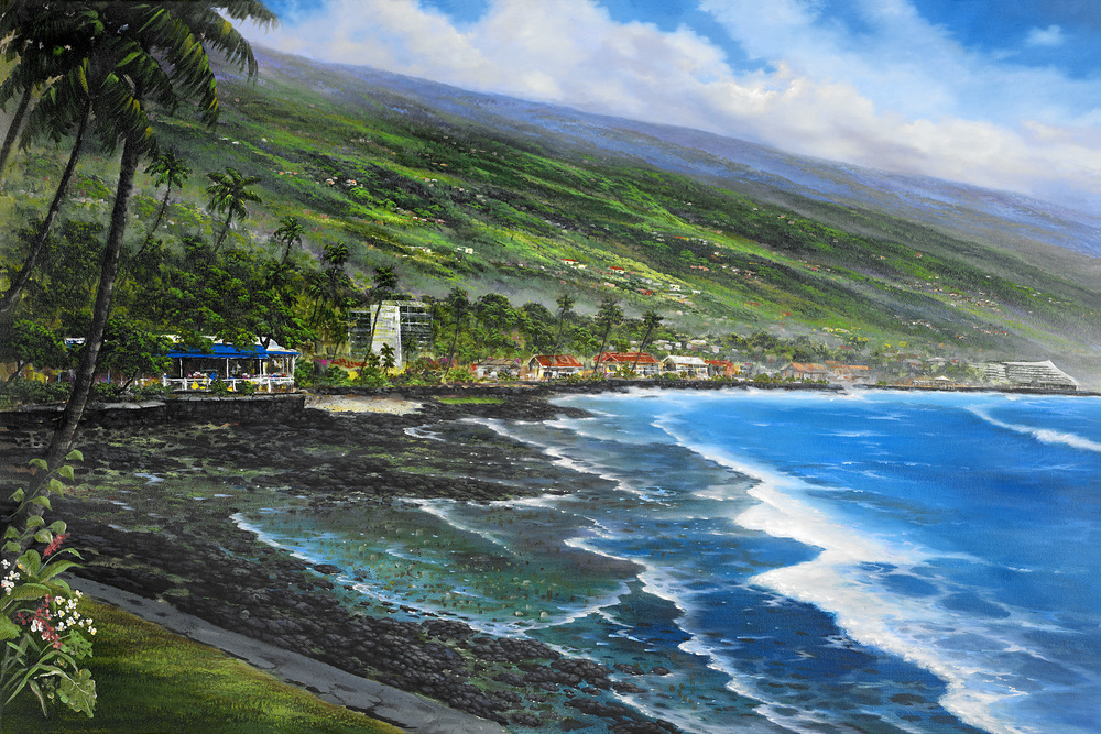 """Royal Kona Coast"" 24x36"