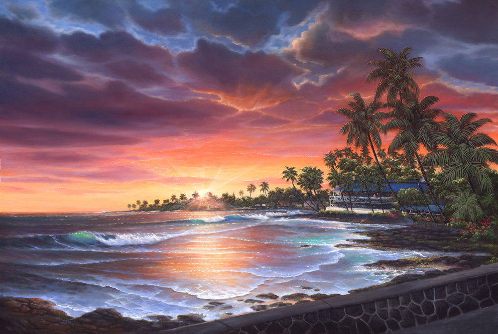 """Coconut Grove Sunset"" 24x36"