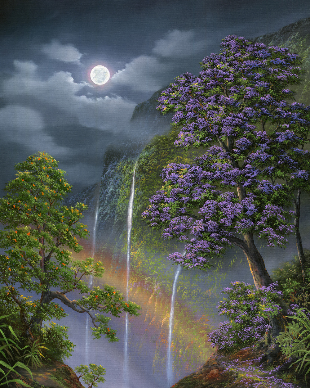 """Jacaranda Night Rainbow"" 24x30"