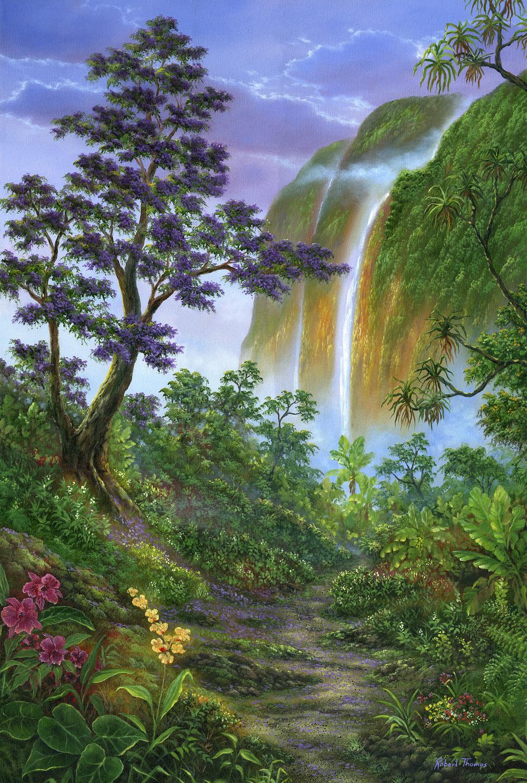 """Jacaranda Trail"" 24x36"