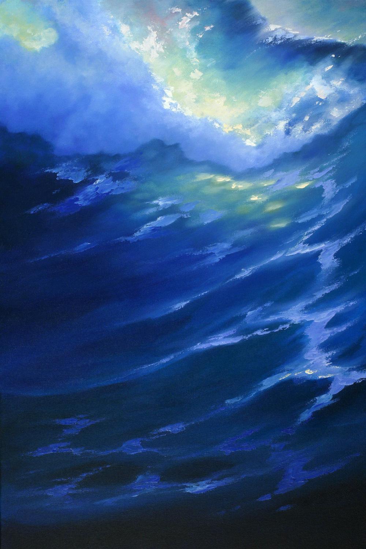 """Blue Splash"" 16x24"
