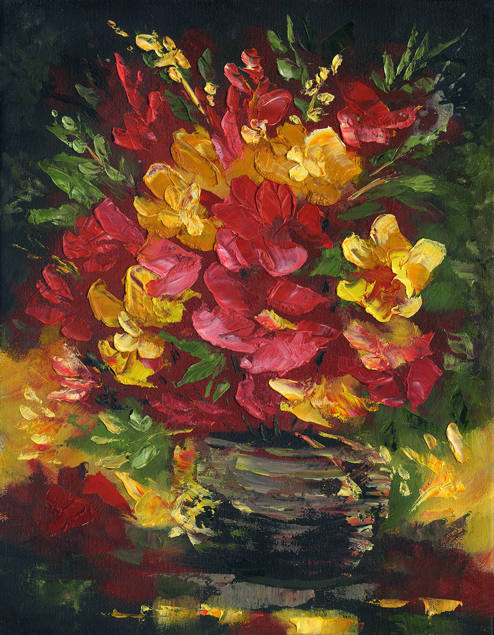 """Flowers In Vas"" 11x14"