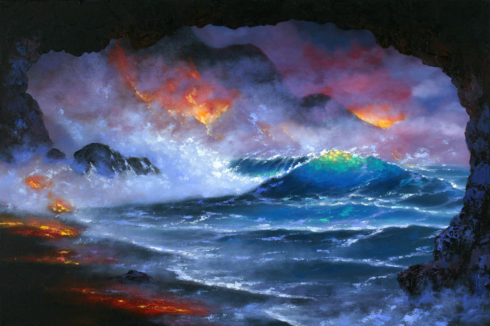 """""""Lava Cove"""" 16x24"""