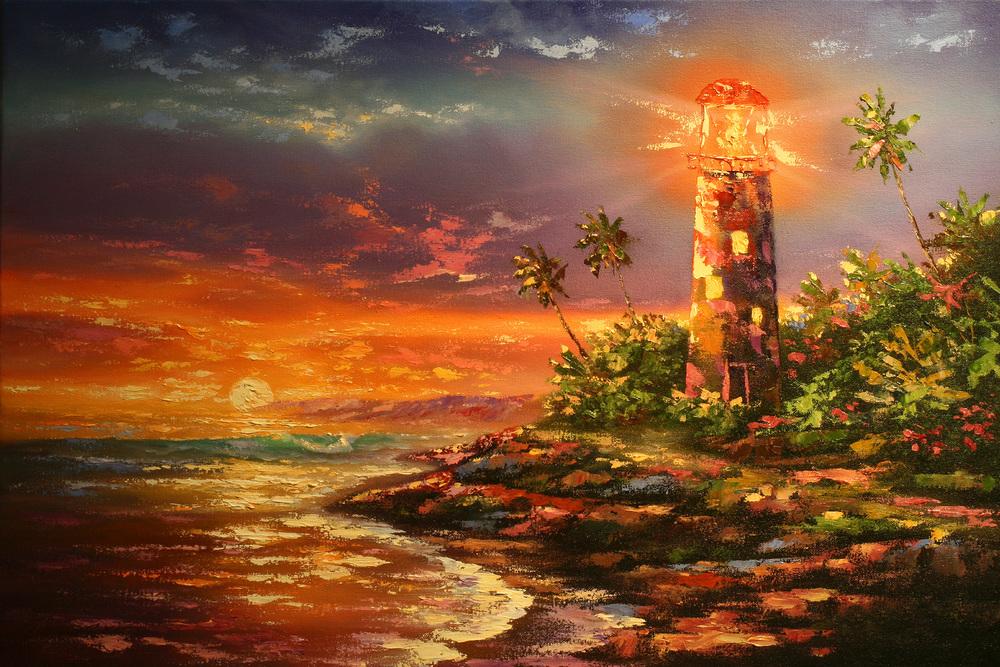 """Light House Impression"" 16x24"