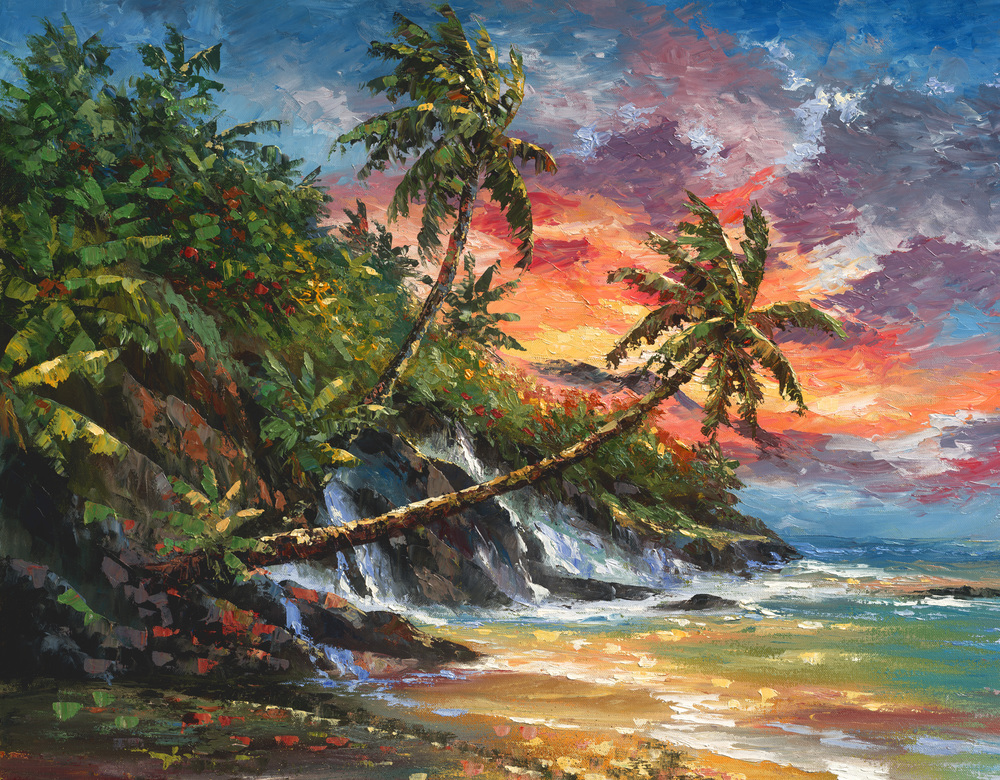"""Sunset Breeze"" 24x30"