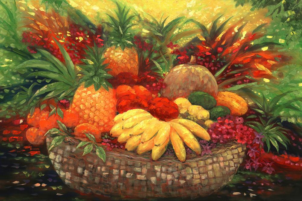 """Tropical Fruit"" 24x36"