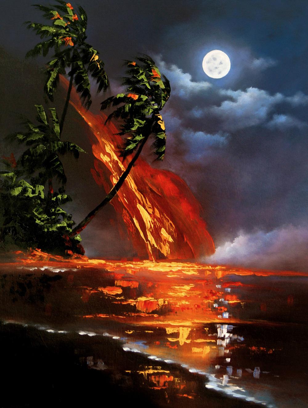 """Volcano Pallette"" 12x16"