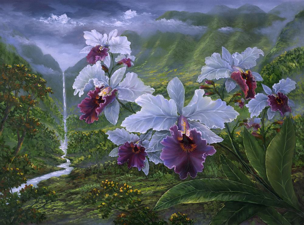"""Kauai Orchids"" 24x32"