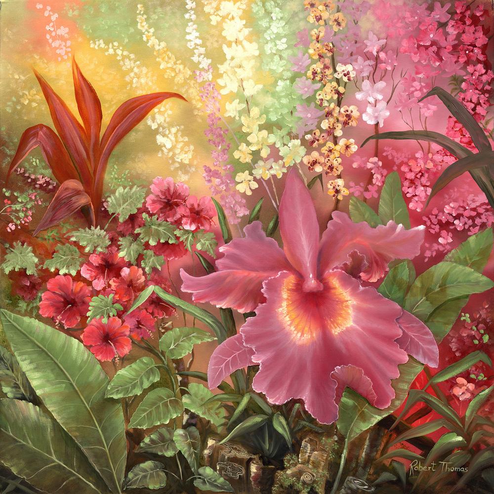 """Orchid Garden"" 32x32"