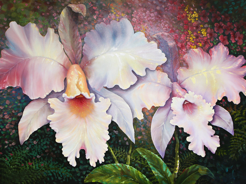 """White Orchid"" 30x40"