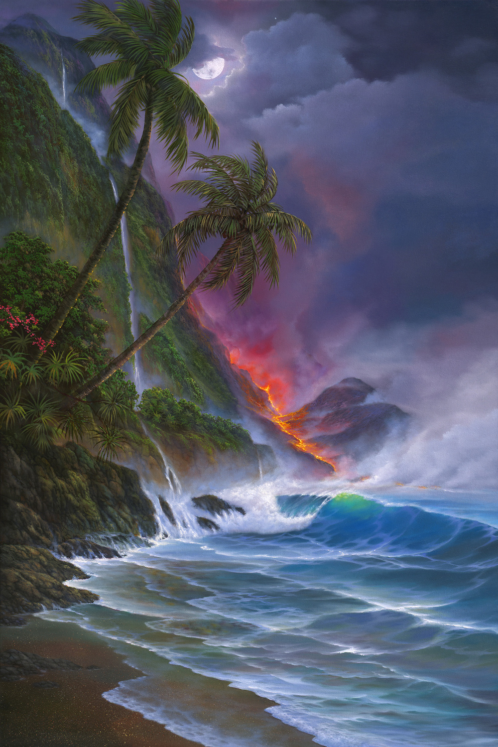 """Beautiful Hawaii Volcano"" 24x36"