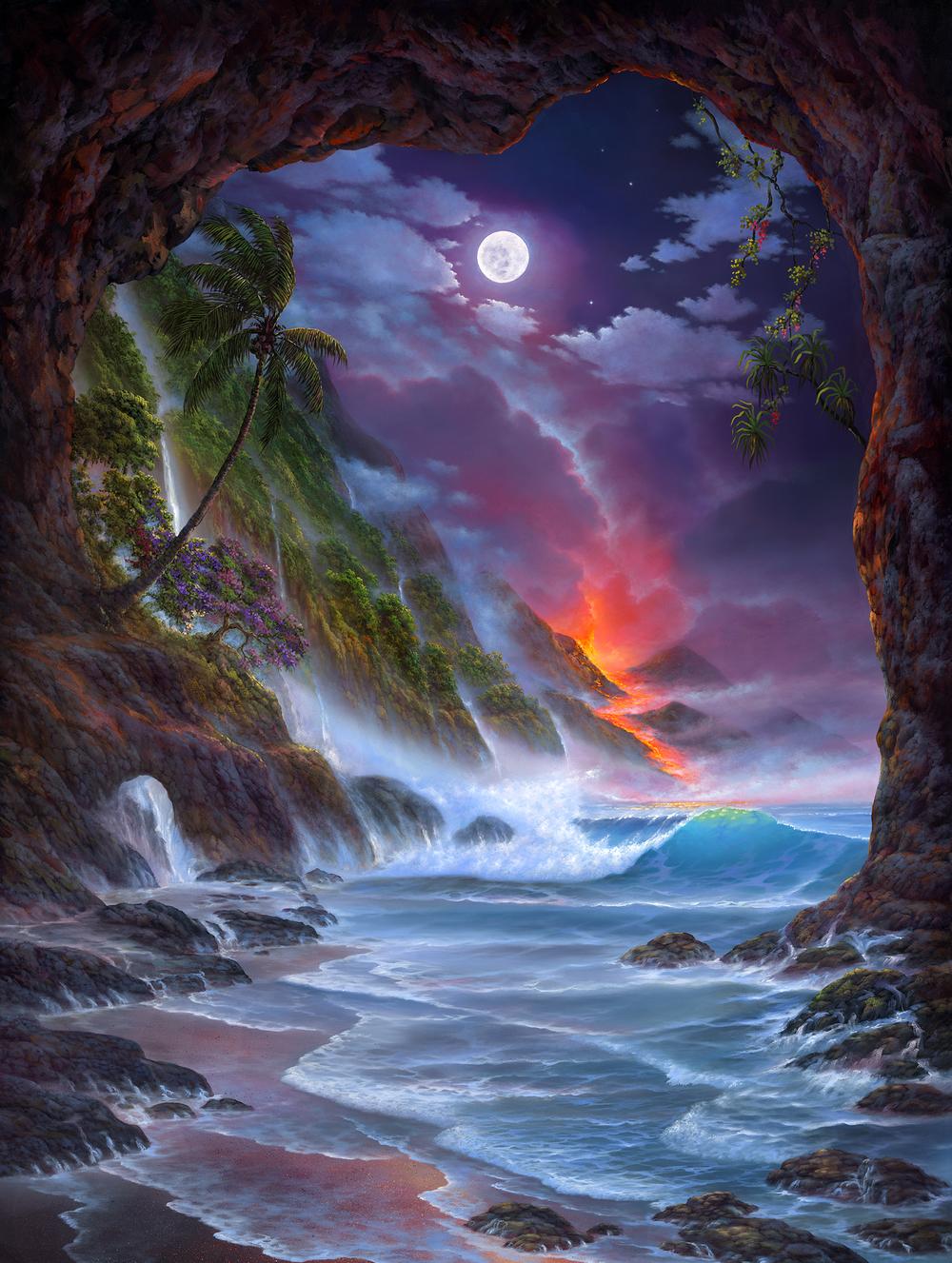"""Crimson Cove"" 30x40"