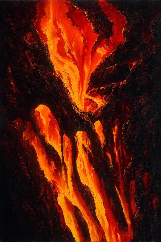 """""""Kilauea Flow"""" 24x36"""